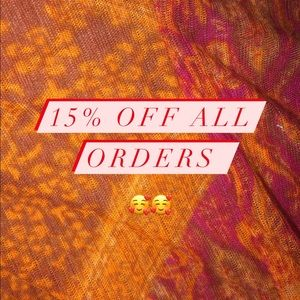 15% off marked price!